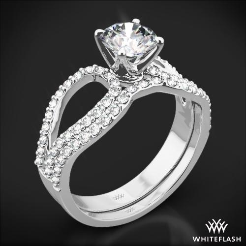 infinity diamond wedding set 1664 - Infinity Wedding Ring Set