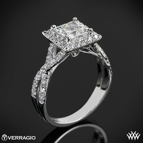 Verragio Square Halo Diamond Engagement Ring 7 Real Photo