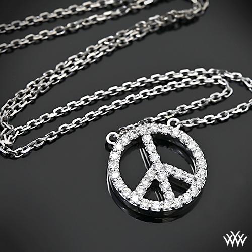 A CUT ABOVE Peace Diamond Pendant