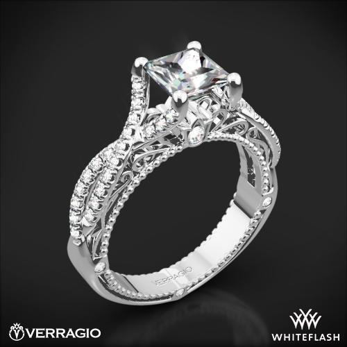 Verragio AFN-5003-2 Pave Twist Diamond Engagement Ring for Princess