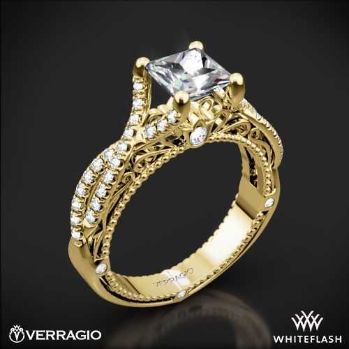 Verragio AFN-5003-2 Pave Twist Diamond Engagement Ring for Princess
