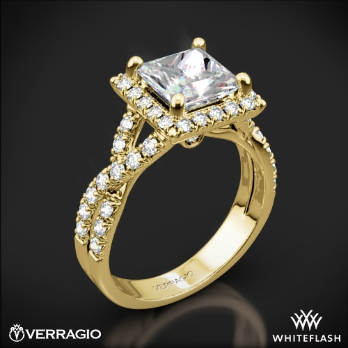 Verragio ENG-0379 Square Halo Diamond Engagement Ring