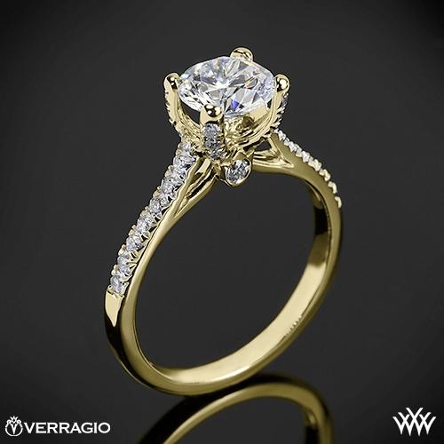 Verragio ENG-0371 4 Prong Petite Pave Diamond Engagement Ring