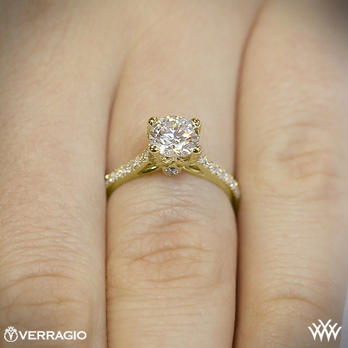 Verragio 4 Prong Pave Diamond Engagement Ring 1938