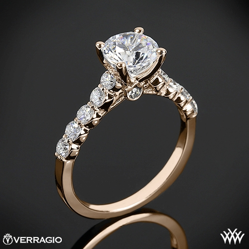 Verragio Shared Prong Cathedral Diamond Engagement Ring 1949