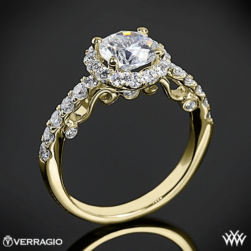 Verragio INS-7003 Half Eternity Halo Diamond Engagement Ring