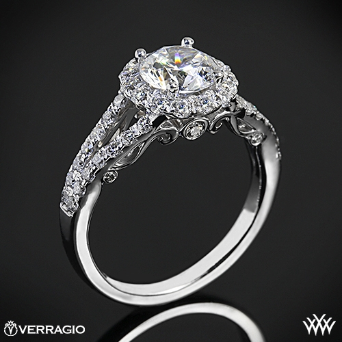 Verragio INS-7010R Split Shank Halo Diamond Engagement Ring