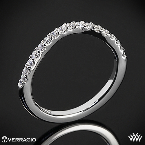 Verragio INS-7010W Curved Shared-Prong Diamond Wedding Ring