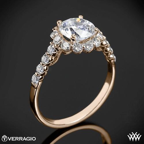 Verragio INS-7033 Round Halo Diamond Engagement Ring