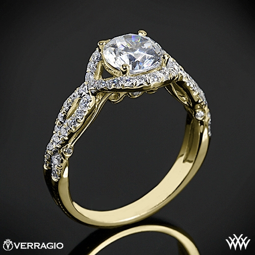 Verragio INS-7040R Twisted Bypass Diamond Engagement Ring