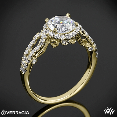 Verragio INS-7042R 4 Prong Round Halo Diamond Engagement Ring
