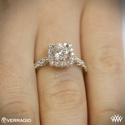 Cushion Halo Diamond Engagement Ring By Verragio 1931