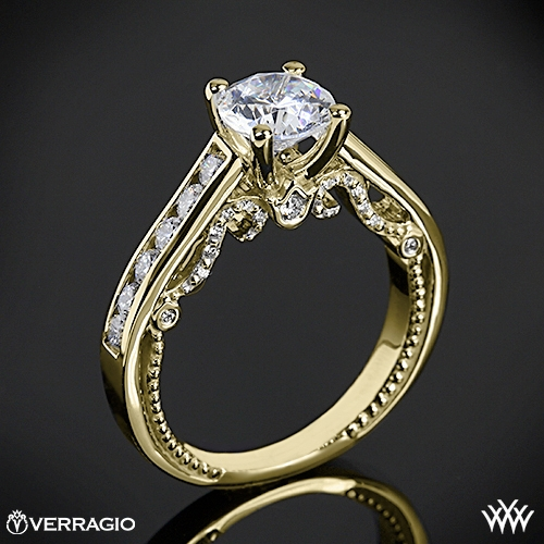 Verragio INS-7064R Beaded Channel-Set Diamond Engagement Ring