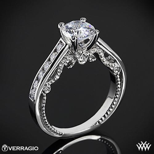 Verragio INS-7064R Beaded Channel-Set Diamond Engagement Ring