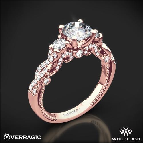 Verragio INS-7074R Braided Three Stone Engagement Ring