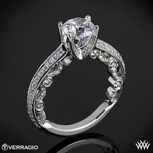 Verragio PAR-3001R Pave Knife-Edge Diamond Engagement Ring