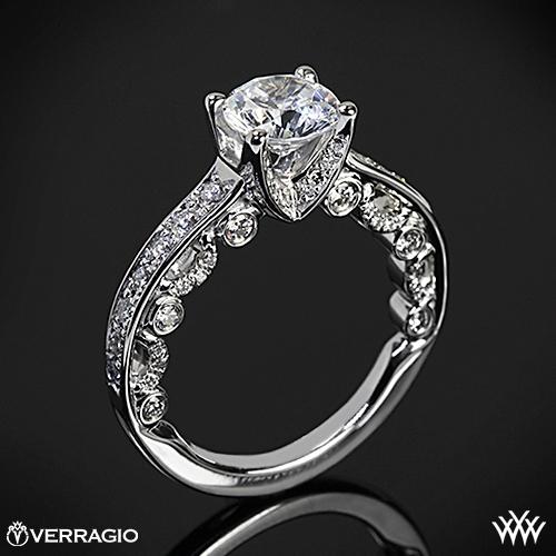 Verragio PAR-3003R 4 Prong Channel Bead-Set Diamond Engagement Ring