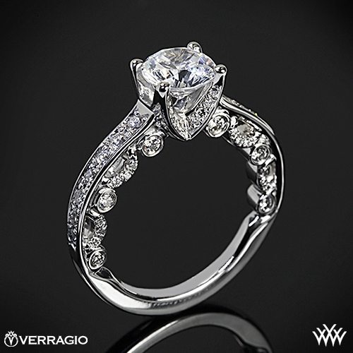 Verragio PAR-3003R 4 Prong Channel Bead-Set Diamond Engagement Ring