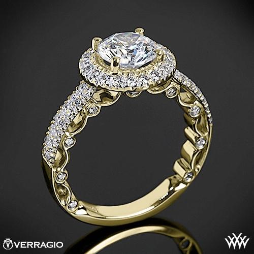 Verragio PAR-3006R Dual Row Pave Diamond Engagement Ring