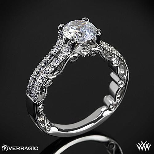 Verragio PAR-3052R Bead-Set Split Shank Diamond Engagement Ring