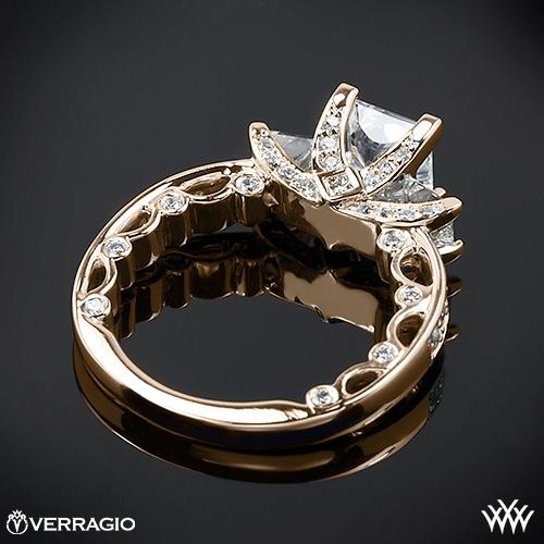 Bead Set Princess 3 Stone Engagement Ring By Verragio 1909