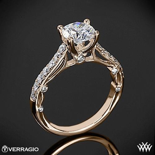 Verragio Bead Set Cathedral Diamond Engagement Ring