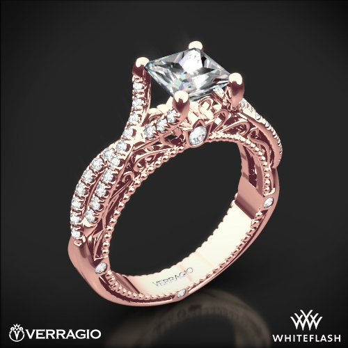 verragio pave twist diamond engagement ring 1953 - Verragio Wedding Rings