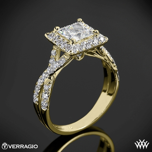 verragio square halo diamond engagement ring 1940 - Square Diamond Wedding Rings