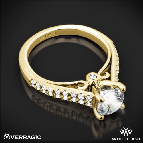 Verragio Double Pave Diamond Engagement Ring 6