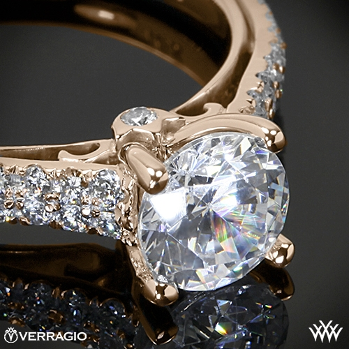 Verragio Double Pave Diamond Enement Ring 1943 Uneek Fine Jewelry