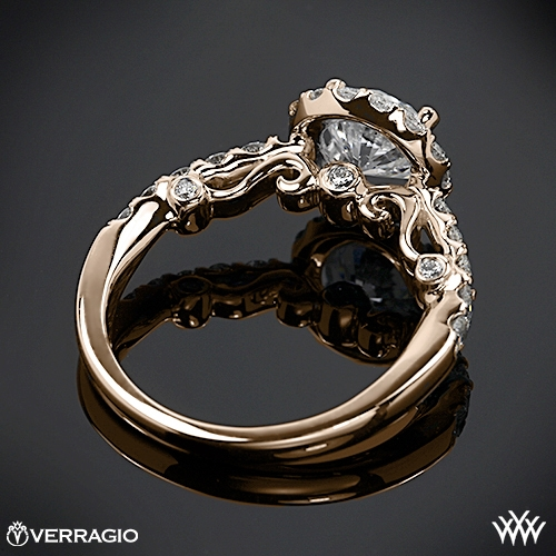 verragio half eternity halo diamond engagement ring 1915 - Verragio Wedding Rings
