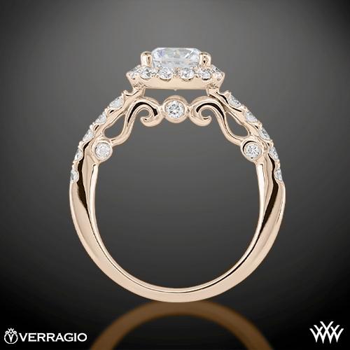 8192f913d5efac Verragio Half Eternity Halo Diamond Engagement Ring | 1915