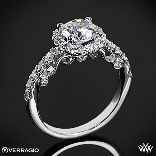 verragio half eternity halo diamond engagement ring 1878 - Verragio Wedding Rings