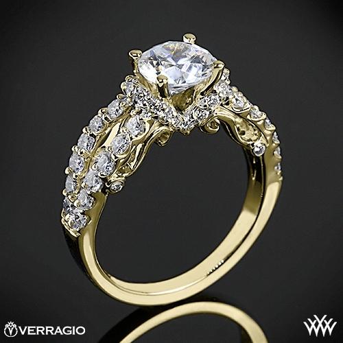 Verragio 4 Prong Pave Wrap Diamond Engagement Ring 1918