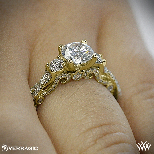 diamond pid jewellery halo cut ring e yellow preset pave engagement gold rings pear