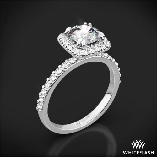 Gunievere Pave Diamond Engagement Ring