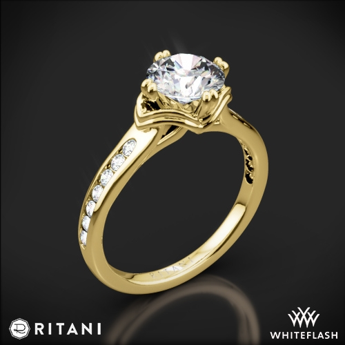Ritani 1RZ1385 Modern Channel-Set Diamond Engagement Ring