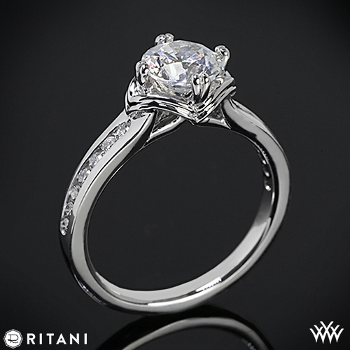 Ritani Modern Channel-Set Diamond Engagement Ring