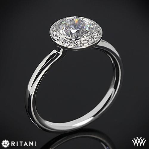 Ritani Setting Ritani 1rz1851 Bezel-set Halo
