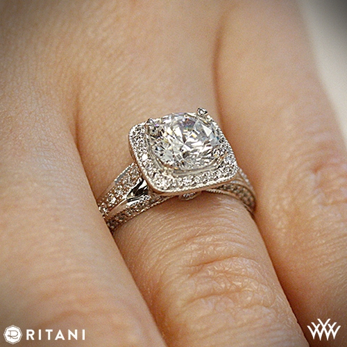 Emerald Cut Diamond Wedding Ring 27 Fabulous Ritani emerald cut engagement