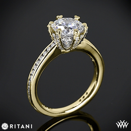 Ritani Setting Channel Set Diamond Engagement Ring