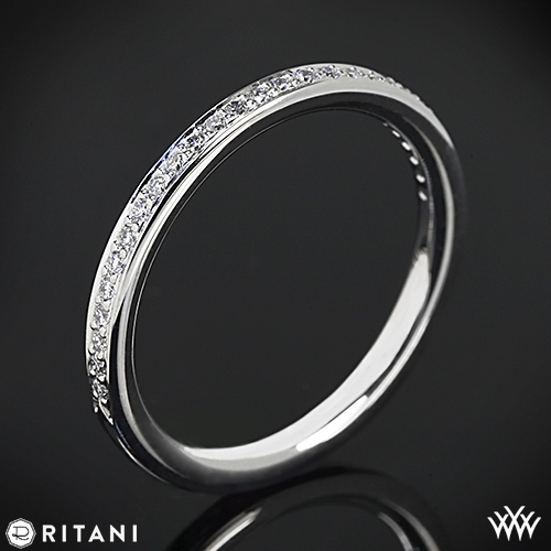 Ritani 21694 Micropavé Diamond Wedding Ring