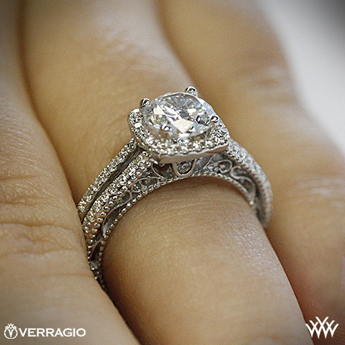 Verragio Split Shank Pave Diamond Engagement Ring 2010