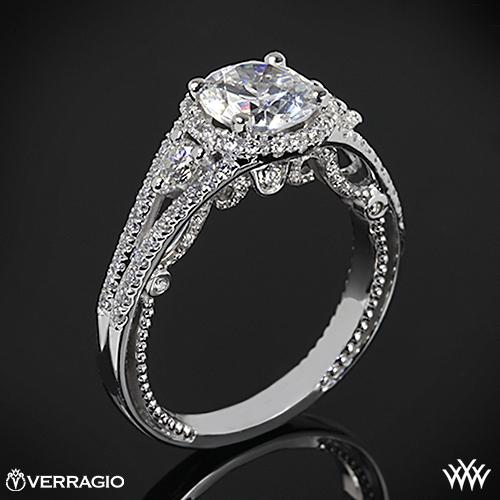 Verragio INS-7068R Domed Bead-Set Diamond Engagement Ring
