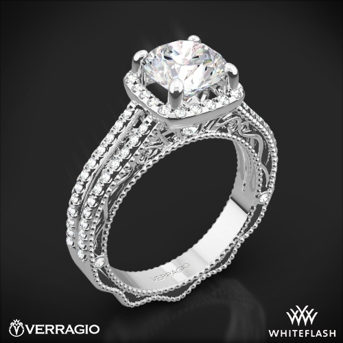 Verragio AFN-5007CU-4 Split Shank Pave Diamond Engagement Ring