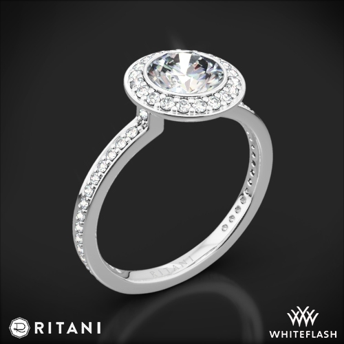 Ritani 1RZ1694 Endless Love Halo Diamond Engagement Ring 2039