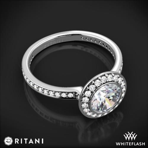 Ritani 1RZ1694 Endless Love Halo Diamond Engagement Ring 6