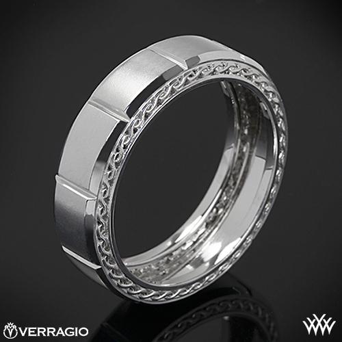 Verragio Beveled Chamber Wedding Ring 2023