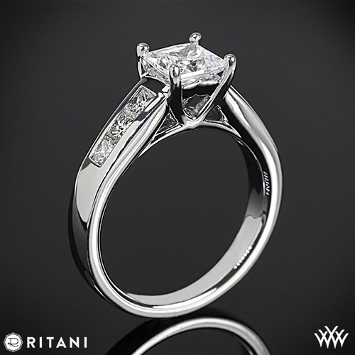 Ritani Classic Channel-Set Princess Diamond Engagement Ring
