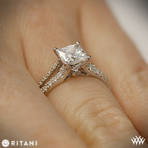 Ritani Classic Split Shank Diamond Engagement Ring For